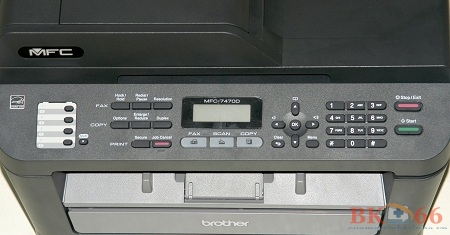 Bảng điều khiển của máy in brother 7470D cũ