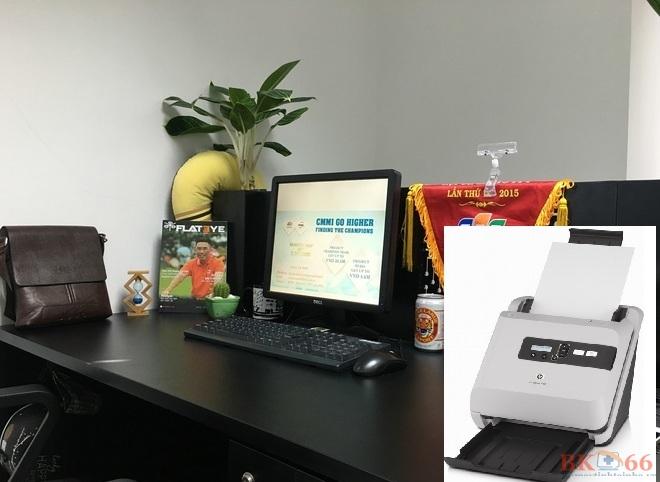 Không gian văn phòng khi có máy scan Hp 5000 cũ