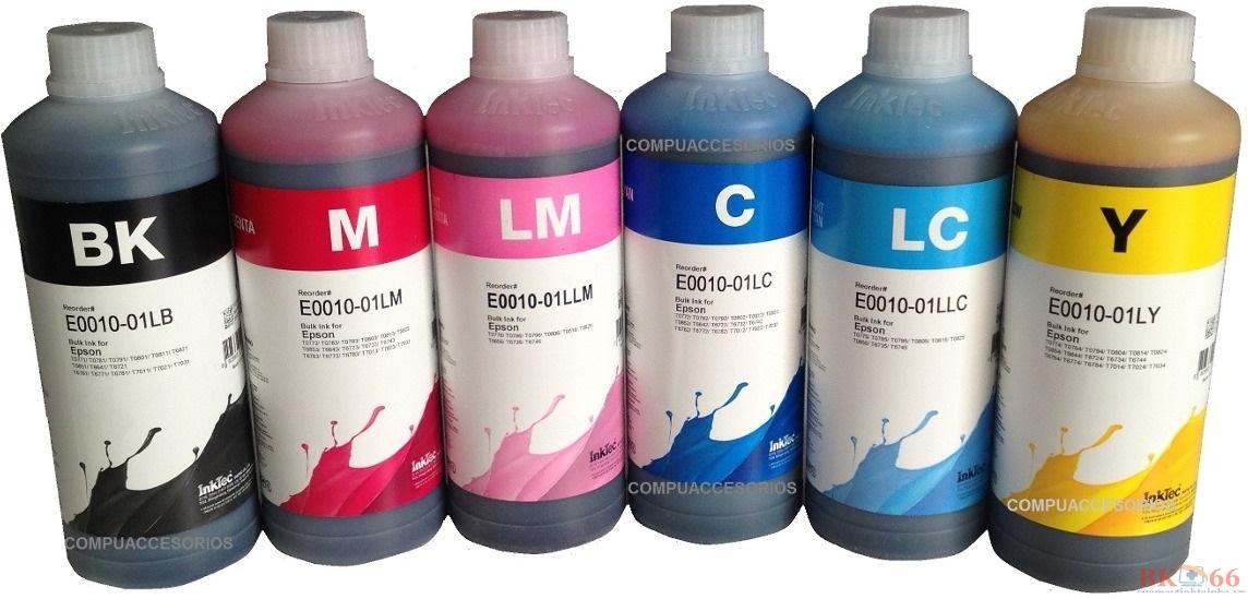 Mực in Inktec 6 màu cho máy in Epson