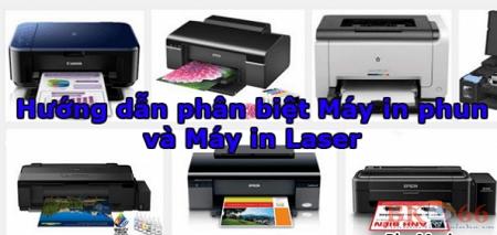 Chọn mua máy in phun màu hay máy in laser màu?